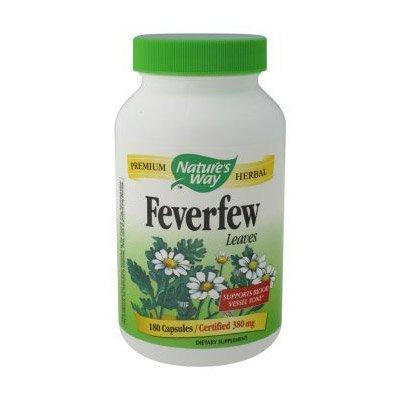 Nature's Way Feverfew Leaves 380 mg, Capsules 180ea