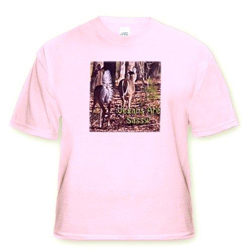 Vegan Slogans Vegans Are Sassy Whitetail Deer - Toddler Light-Pink-T-Shirt (2T)
