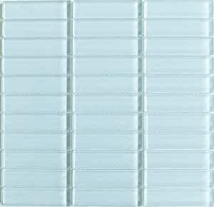 light blue glass lush 1x4 backsplash home tiles modwalls