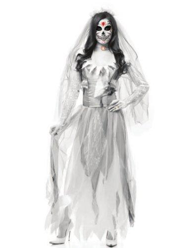 white lacy zombie bride halloween costume