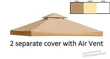 toile de toit de rechange pour tonnelle 3m x 3m toile de. Black Bedroom Furniture Sets. Home Design Ideas