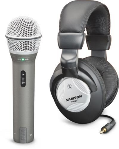 Samson Q2U Handheld Dynamic USB Microphone with On/Off Switch