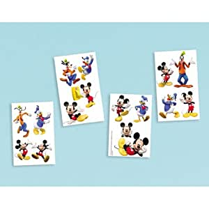 Buy disneys mickey mouse friends party supplies tattoos for Disney temporary tattoos mickey mouse