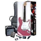 Electric Guitar Package SX EG1K BGMY Pink w/GA1065