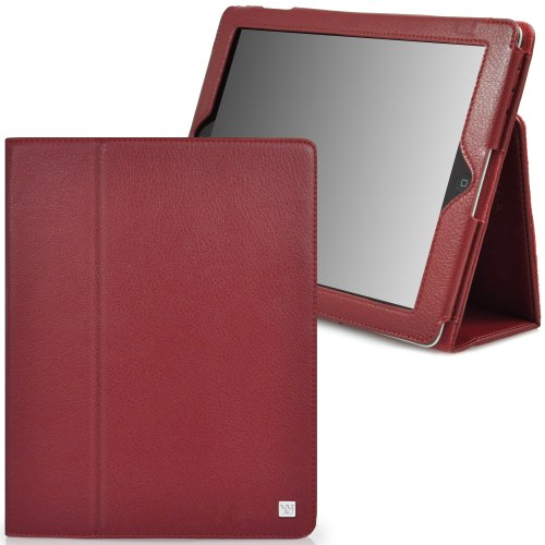 CaseCrown Bold Standby Case (Red) for iPad 4th Generation with Retina Display, iPad 3 & iPad 2 (Built-in magnet for sleep / wake feature)