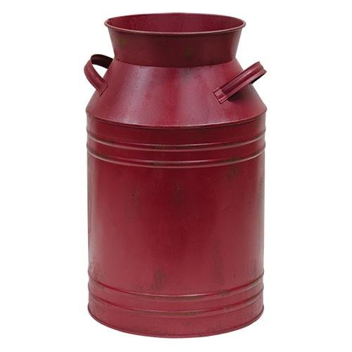 Vintage Burgundy Milk Can