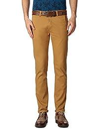 Peter England Khaki Trousers - B01CGMYRF8