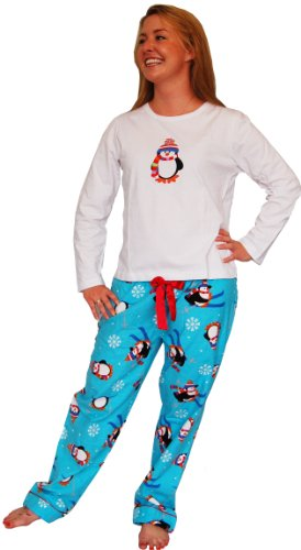 Sleepyheads Christmas Penguin Longsleeve Knit and Flannel Pyjama Set
