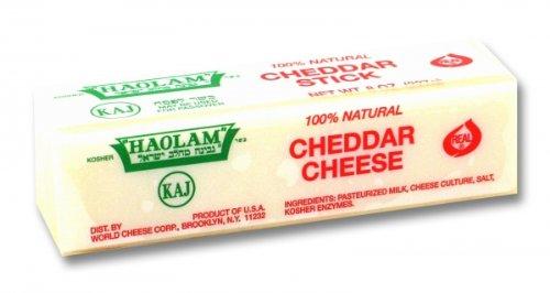 Haolam - Cholov Yisroel White Cheddar Sticks (8 oz.) - 6 Pack