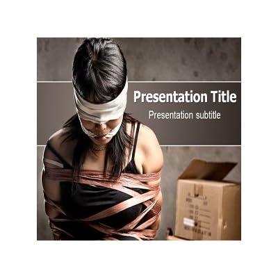 Amazon.com: Human Trafficking Powerpoint Template - Human Trafficking