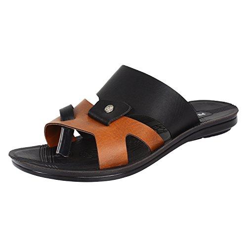 Bersache Men's Black-839 Sandals & Floaters