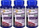 Puritans Pride Resveratrol 100 Mg 60 Soft Gels 3 Pack