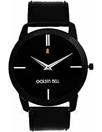amazon in golden bell watches golden bell analogue black dial men watch gb 753blkd