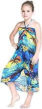 Girl Hawaiian Butterfly Luau Dress in Sunset Blue