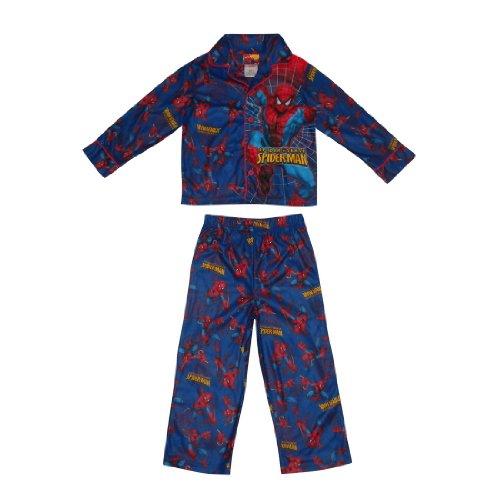 2 PCS SET: Spider-Man Boys Or Girls Fleece Sleepwear Pajama Top & Pants Set - Multicolor