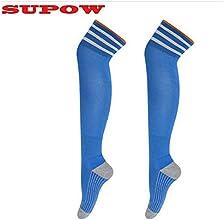 SUPOWTM New Unisex Football Sport Overknee Socks Stockings Soccer Baseball Basketball Over The Knee
