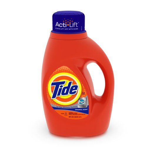 Tide HE Original Scent 32 loads, 50-Ounce Bottle (Pack of 2) [Frustration-Free Packaging]
