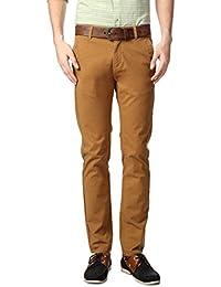 Peter England Khaki Trousers - B01CGMW05M