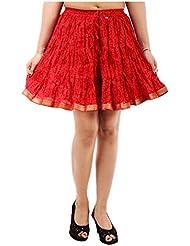 Sunshine Enterprises Women's Cotton Wrap Skirt (Red)