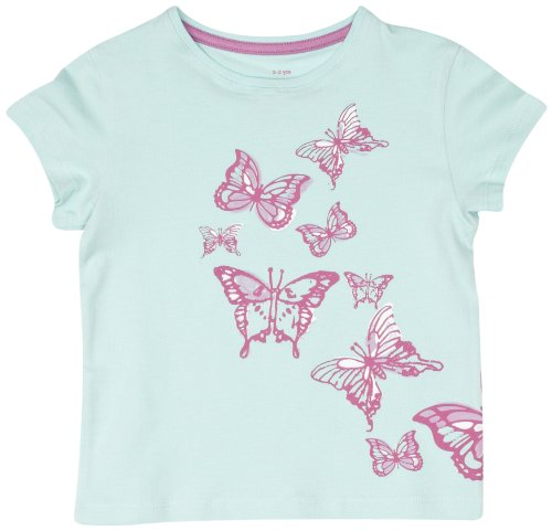 Kite Butterfly Printed Girl's T-Shirt  Tint