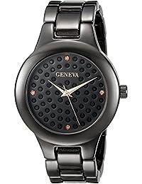 Geneva Women's FMDJM105B Analog Display Japanese Quartz Black Watch