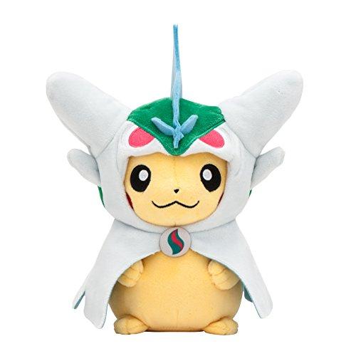 Pokemon Center Original Stuffed Animal Pikachu in a Poncho of mega elleade