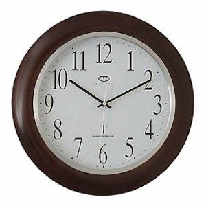 Radio Controlled Wood Wall Clock Home Kitchen