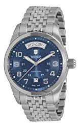Victorinox Swiss Army Men's 241072 Ambassador Stainless Steel Automatic Blue Dial Watch