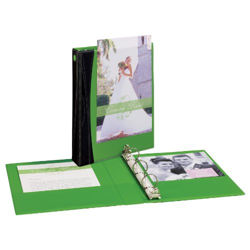 Avery Comfort Touch View Binder with 1-Inch Round Ring, Holds 5.5 x 8.5-Inch Paper, Green, 1 Binder (17346)