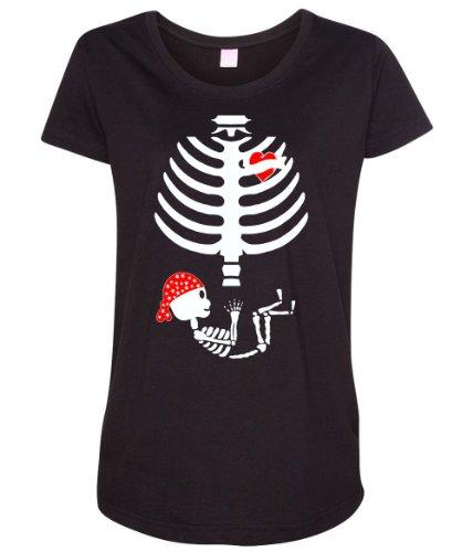 Tattoo Mom Baby Pirate Skeleton Women's Maternity T-Shirt