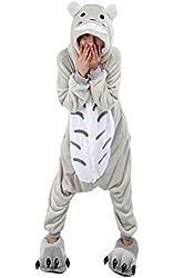 SaiDeng Kigurumi Pajamas Unisex Adult Cosplay Costume Animal Size S Totoro
