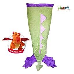 Blankii Minky Fleece Fabric Mermaid Dragon Tail Blanket