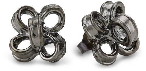 Tuleste Market Ribbon Gunmetal Stud Earrings