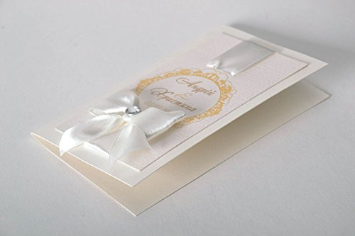 Carte d'invitation de mariage faite main