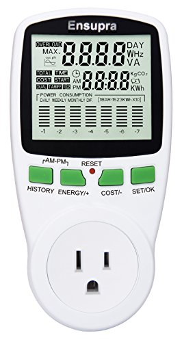 Ensupra Pm002 Electricity Usage Monitor With Graphic Display And Power Meter