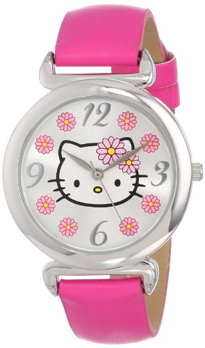 Sanrio-Hello-Kitty-Womens-HKAQ5371-Watch-With-Pink-PU-Band