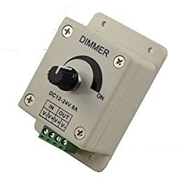 TonLong DC 12V-24V 8A Manual Dimmer Adjustable Brightness for Single Color 3528 5050 Led Light, led strip light