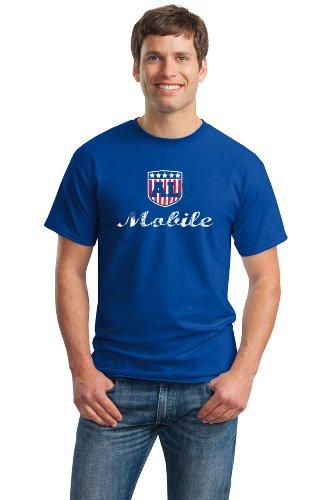 Mobile, Al Ladies' Vintage Look T-Shirt / Mobile Alabama Usa City Pride Tee