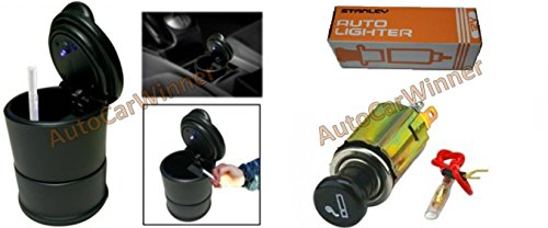AUTOCARWINNER Fancy Blue LED Light Ashtray & Stanley Car Cigarette Lighter 12V COMBO  available at amazon for Rs.255