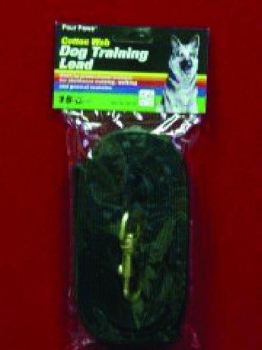 picture 15-Foot Cotton Web Lead, Black