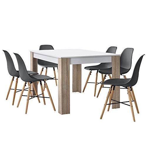 Table chaise salle manger les bons plans de micromonde for Table de cuisine salle a manger 6 chaises ella