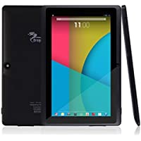 """Dragon Touch Y88X 7"""" Tablet PC Quad Core Google Android 4.4 KitKat, Allwinner A33 Cortex A7, Dual Camera, HD 1024x600 Multi-touch Screen, 8GB Nand Flash, Google Play Pre-loaded, WiFi, 3D Game Supported"""