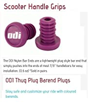 Odi Bar End Plugs For Scooters and BMX Bikes 1 Pair (PURPLE)
