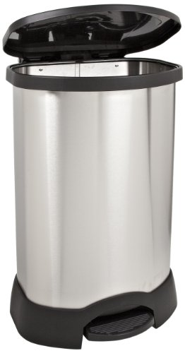 Rubbermaid Commercial Fg614787bla Stainless Steel Oval Step On Trash Can 30 Gallon Capacity