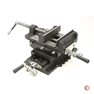 "4"" Cross Slide Drill Press Vise Metal Milling Machine"