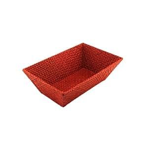 Amazon.com - Neatnix Home Indoor Table Paperwork Storage Open Pandan Organizer Rectangle-Red