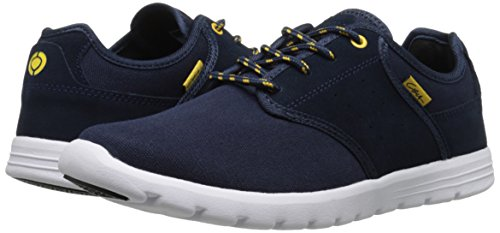 C1RCA Men's Atlas Skate Shoe, Navy/Gold, 12 M US