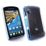 Sony Ericsson XPERIA PLAYケース Gel Skin case (docomo SO-01D) 【BLUE(青)】+ 液晶保護フィルム1枚