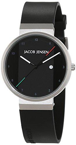 JACOB JENSEN - JACOB JENSEN NEW SERIES ITEM NO. 732 - Montre Mixte - Quartz - Analogique - Bracelet Caoutchouc noir