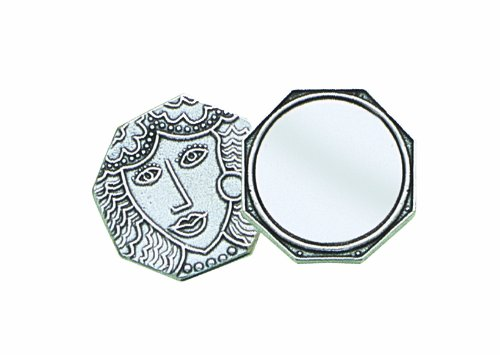Crosby & Taylor Lady Octagon Pewter Purse Mirror